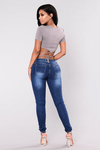 French Twist Skinny Jeans - Dark Wash