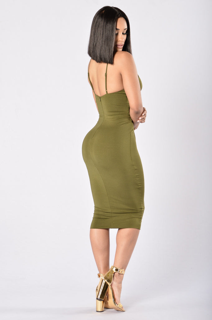 Never Fails Dress - Olive