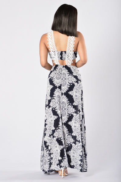 Don't Stare Maxi Dress - Navy