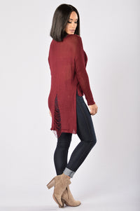 Tangled Sweater - Burgundy