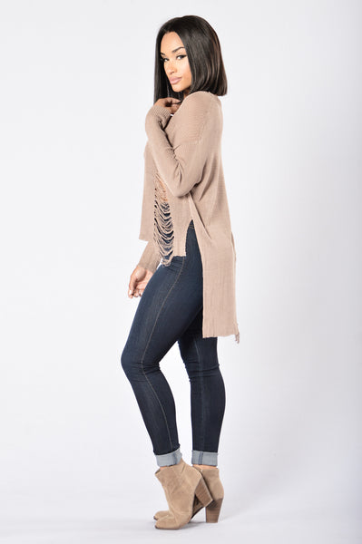 Tangled Sweater - Taupe