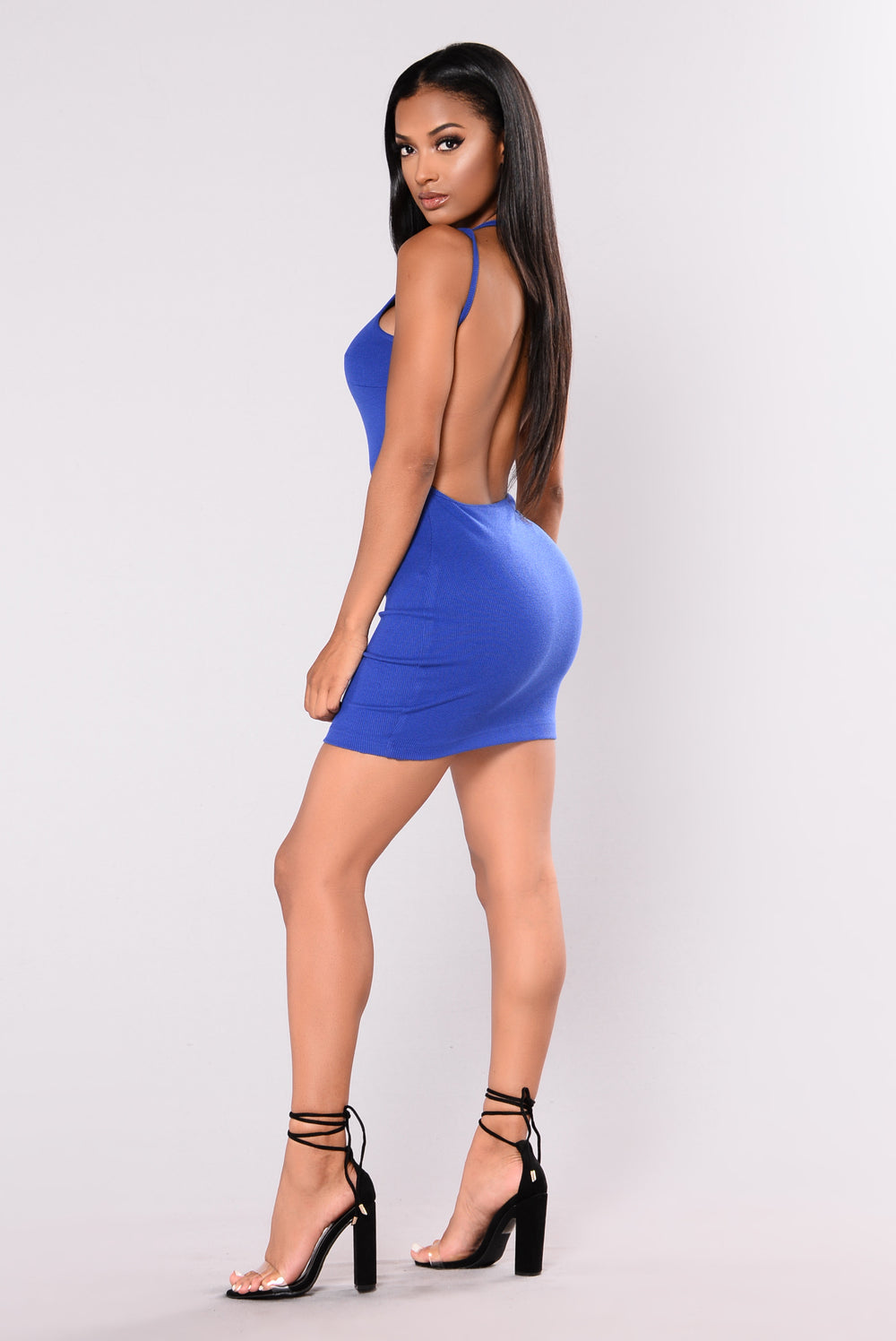 Jana Ribbed Dress - Royal