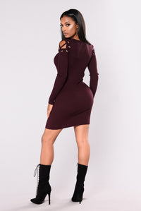 Libby Knit Dress - Plum