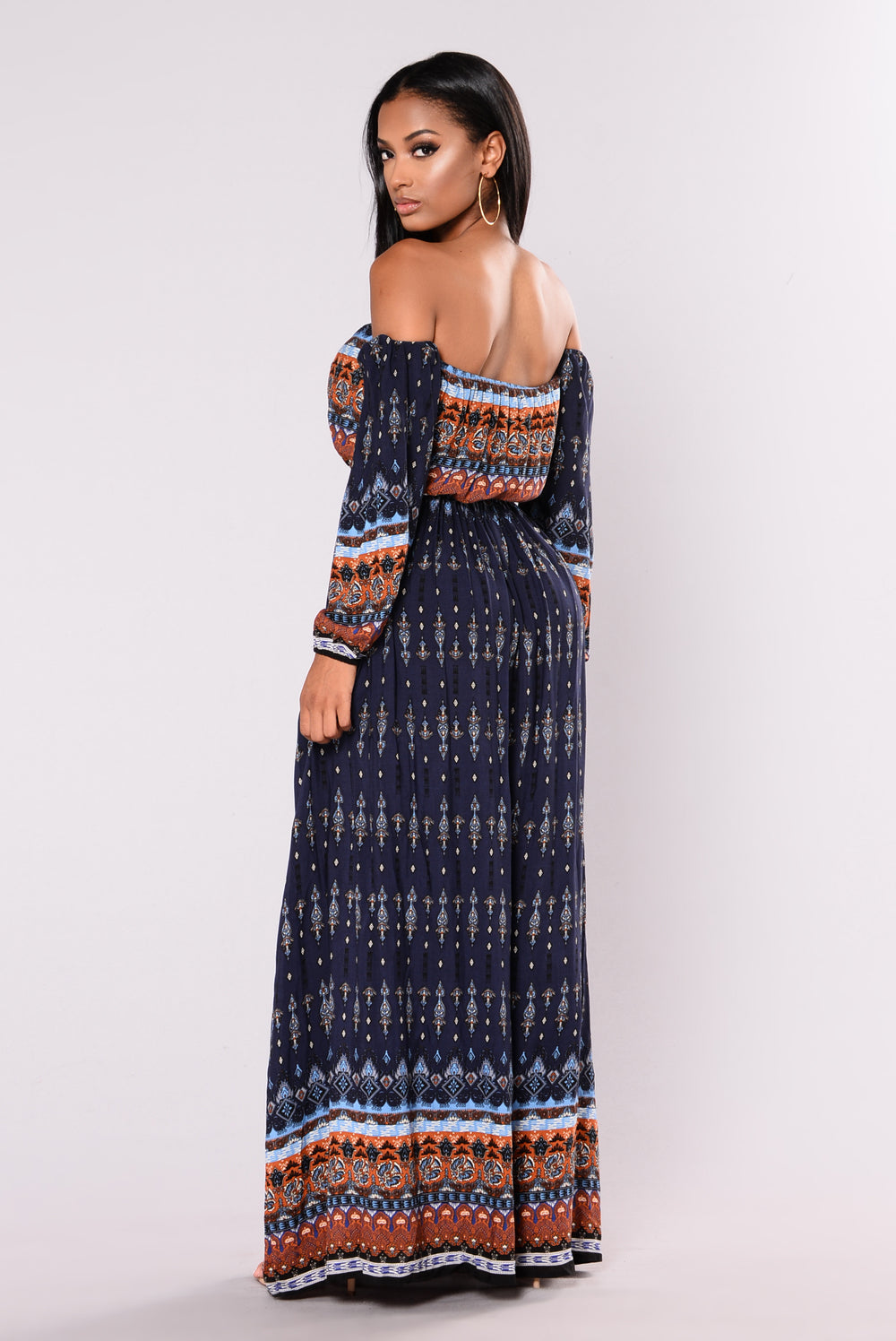 Canary Island Maxi Dress - Navy