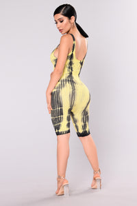 Lovato Tie Dye Jumpsuit - Yellow