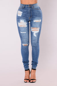 Feeling Blue Jeans - Medium Blue