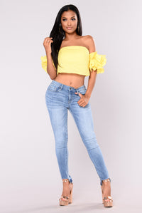 Right Direction Off Shoulder Top - Yellow