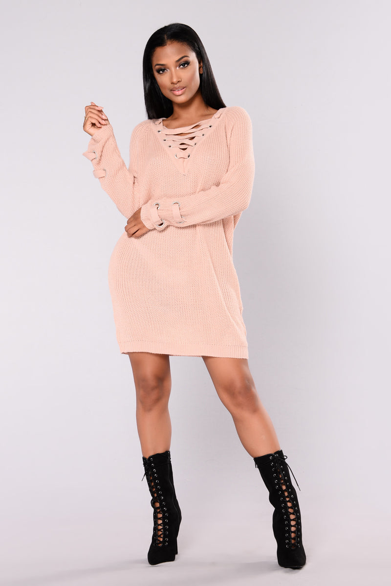 Bianca Sweater Dress - Rose Pink