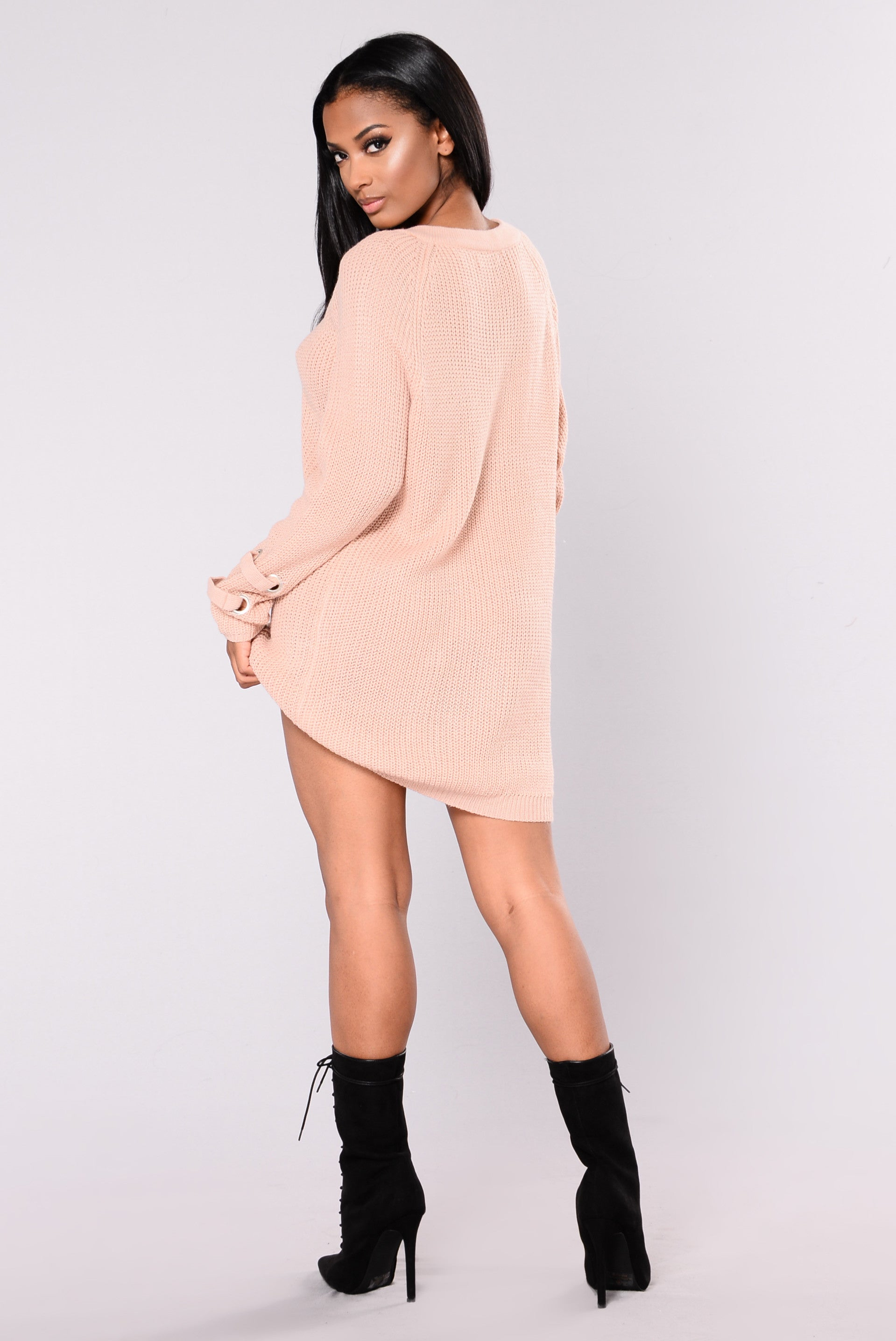 77037cfa76b Bianca Sweater Dress - Rose Pink