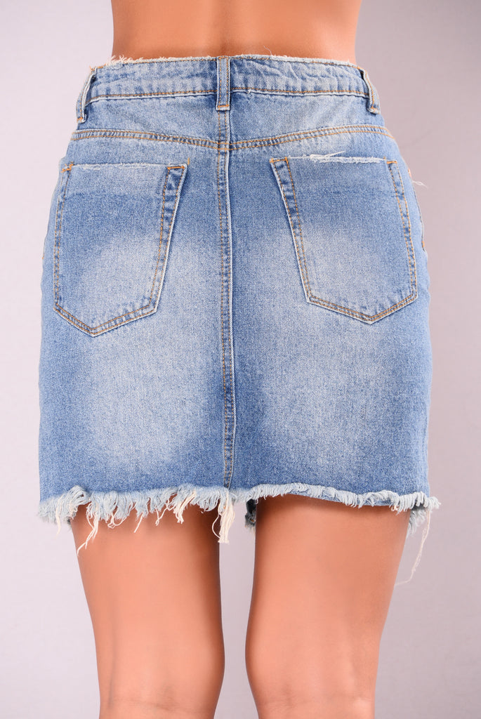 Needing Love Skirt - Medium Wash