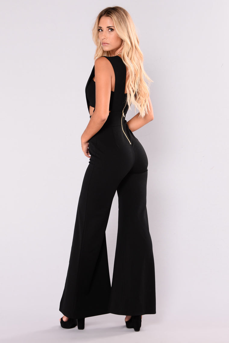 Wild Ones Cut Out Jumpsuit - Black