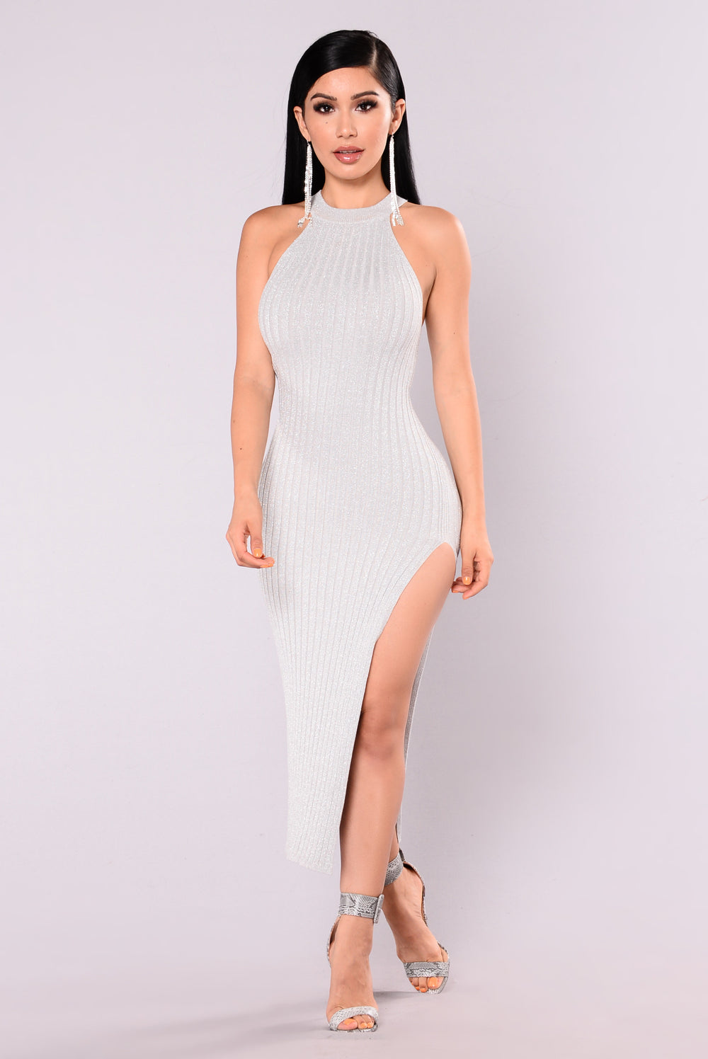 Lorelei Lurex Dress - Silver