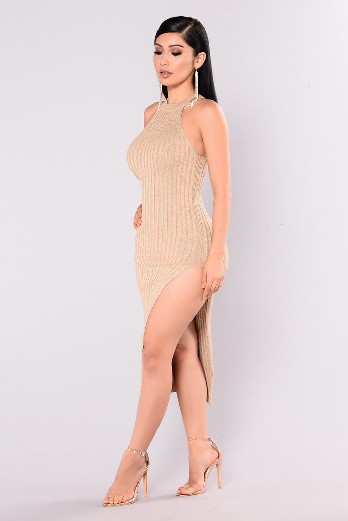 Lorelei Lurex Dress - Gold