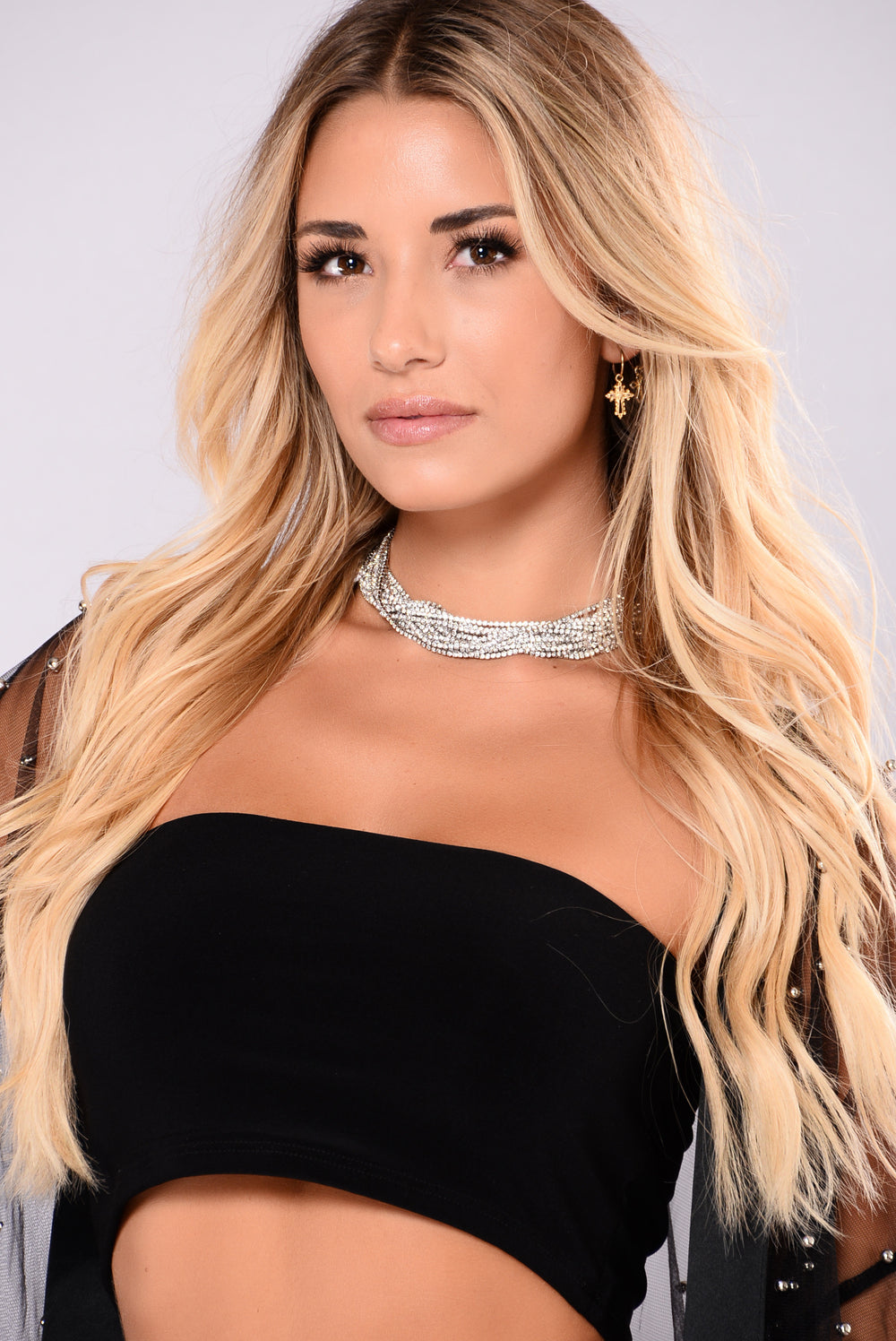 A Girl's Best Friend Choker - Silver
