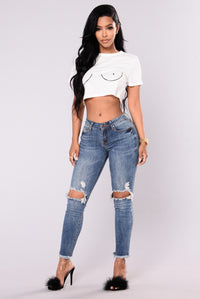 Lesly Jeans - Medium Blue