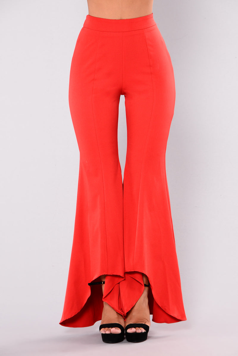 Bellisima Flare Pants - Red
