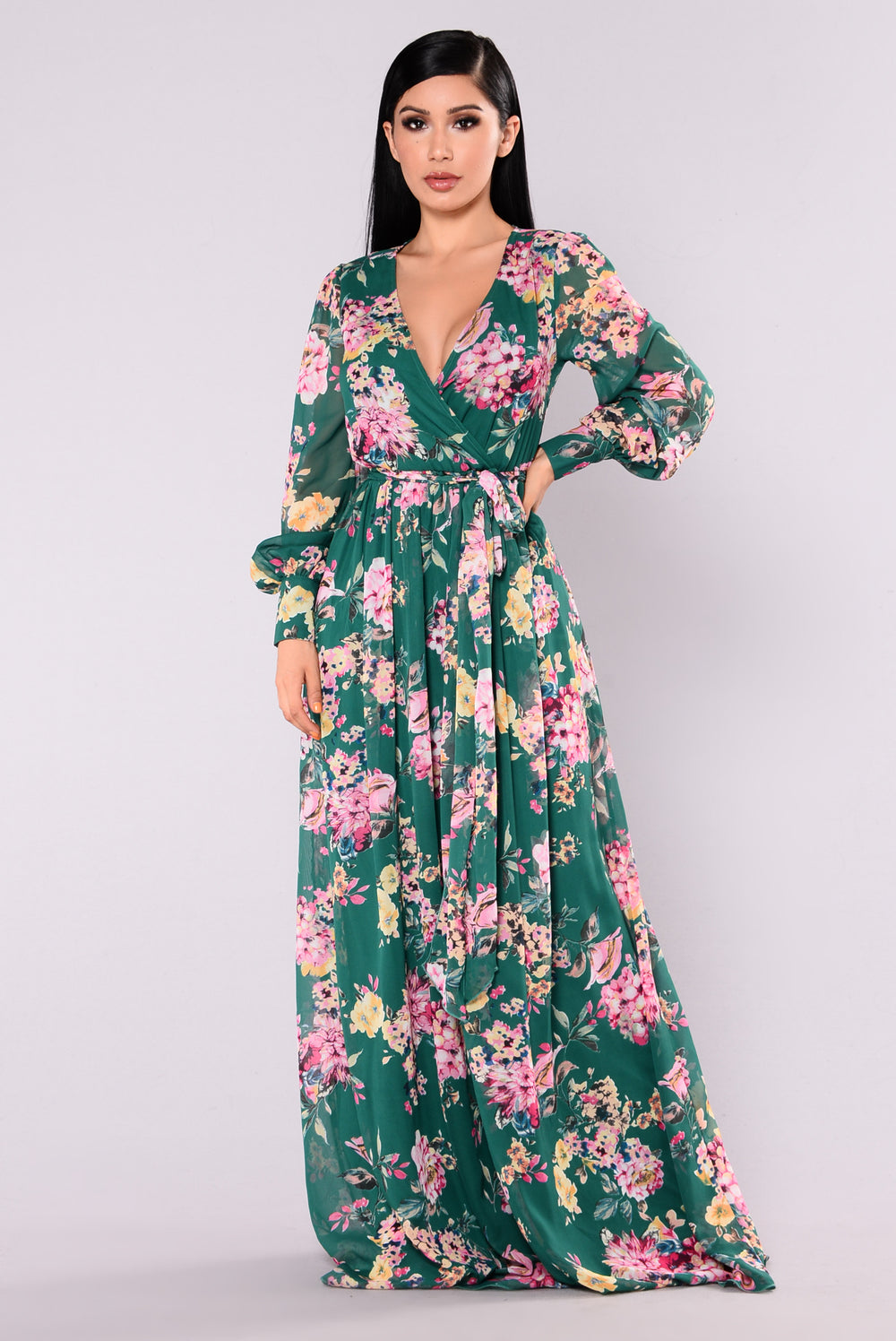 Hilo Maxi Dress - Hunter Green