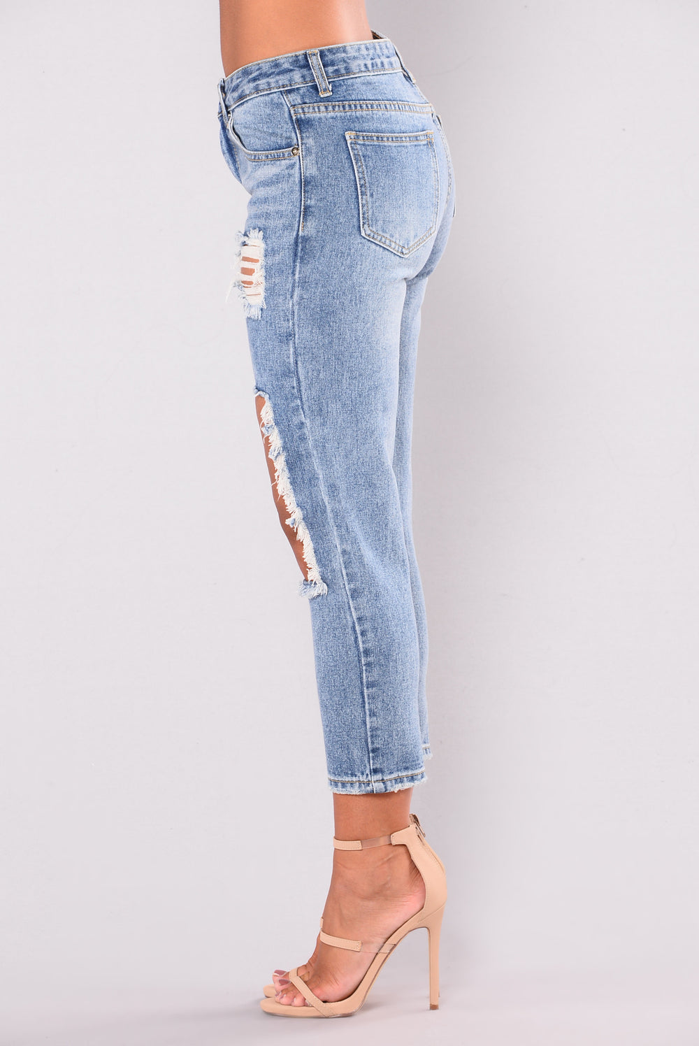 Baby Girl Boyfriend Jeans - Light Blue
