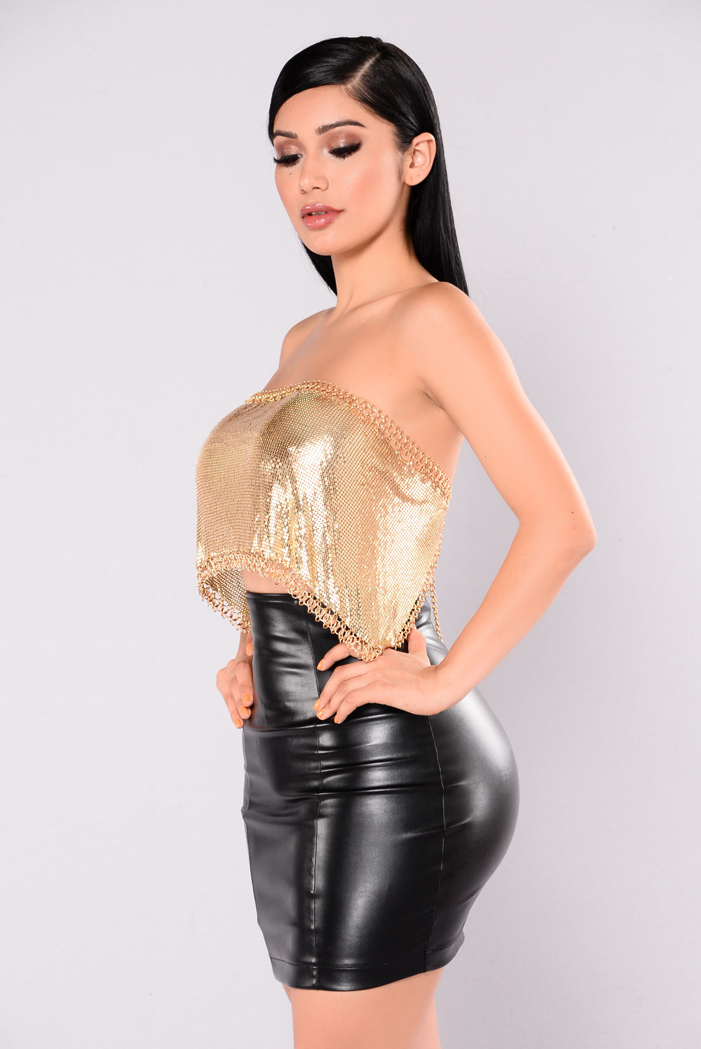 Danica Metal Tube Top - Gold