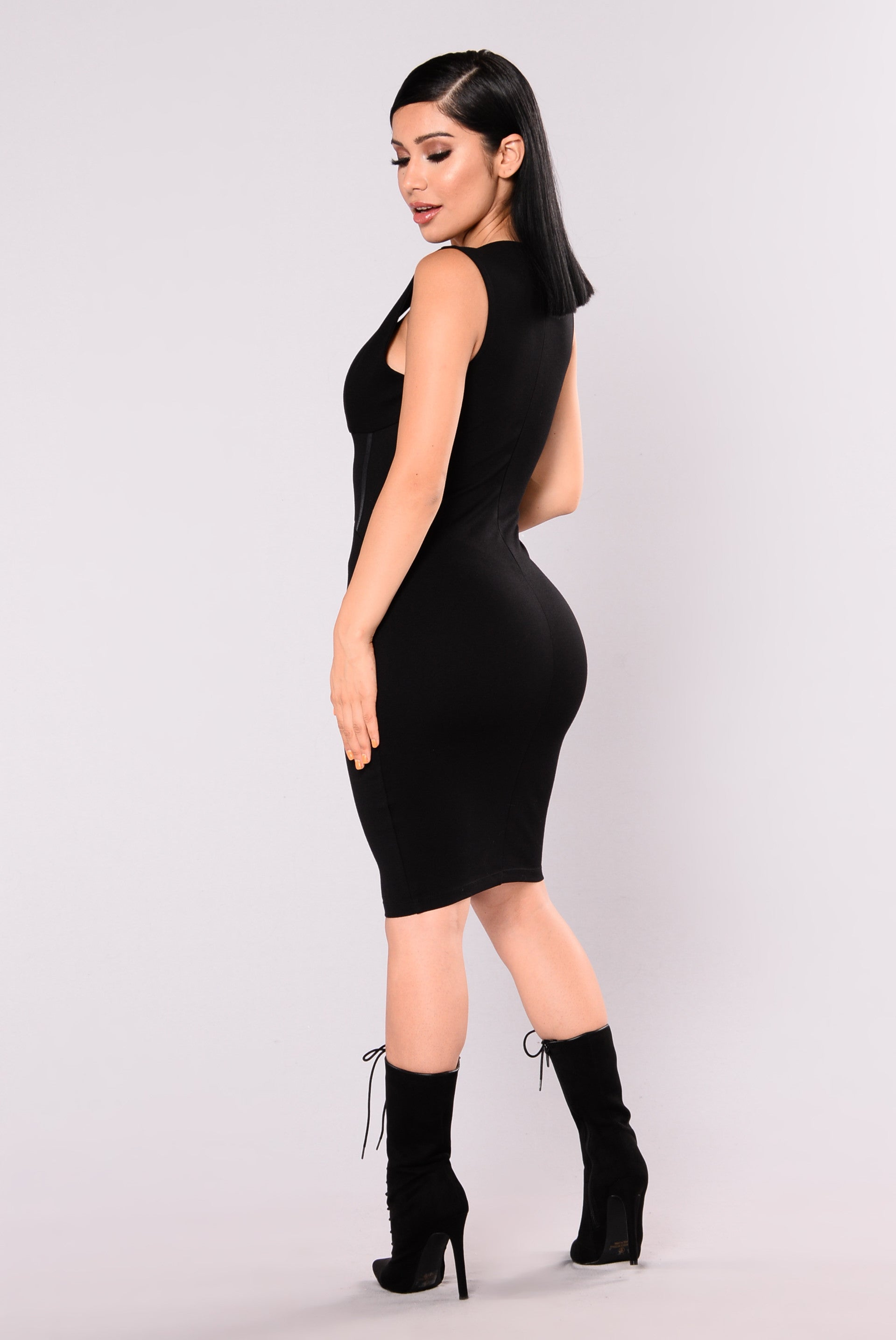 1fc07c7a1d7 Dayana Sleeveless Corset Dress - Black