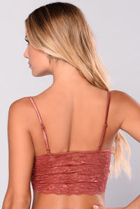 Tasty Lace Crop Top - Rust
