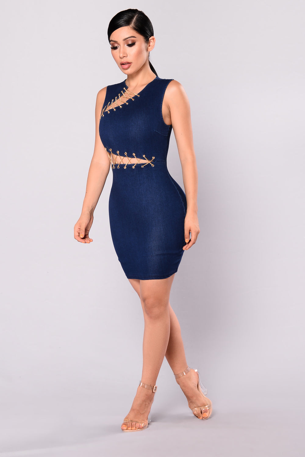 Golden Fantasy Chain Dress - Dark