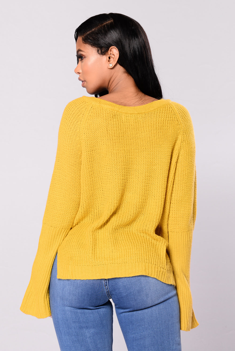 Bellatrix Crop Sweater - Mustard