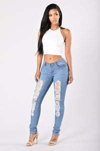 Smoke the Competition Jeans - Medium Wash Angle 5