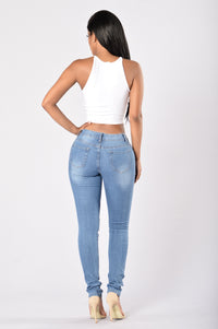 Smoke the Competition Jeans - Medium Wash Angle 4