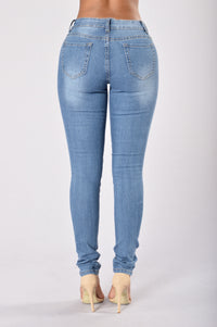 Smoke the Competition Jeans - Medium Wash Angle 2