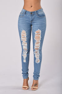 Smoke the Competition Jeans - Medium Wash Angle 1