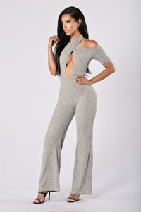 Mila Jumpsuit - Heather Grey Angle 1