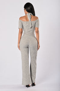 Mila Jumpsuit - Heather Grey Angle 2