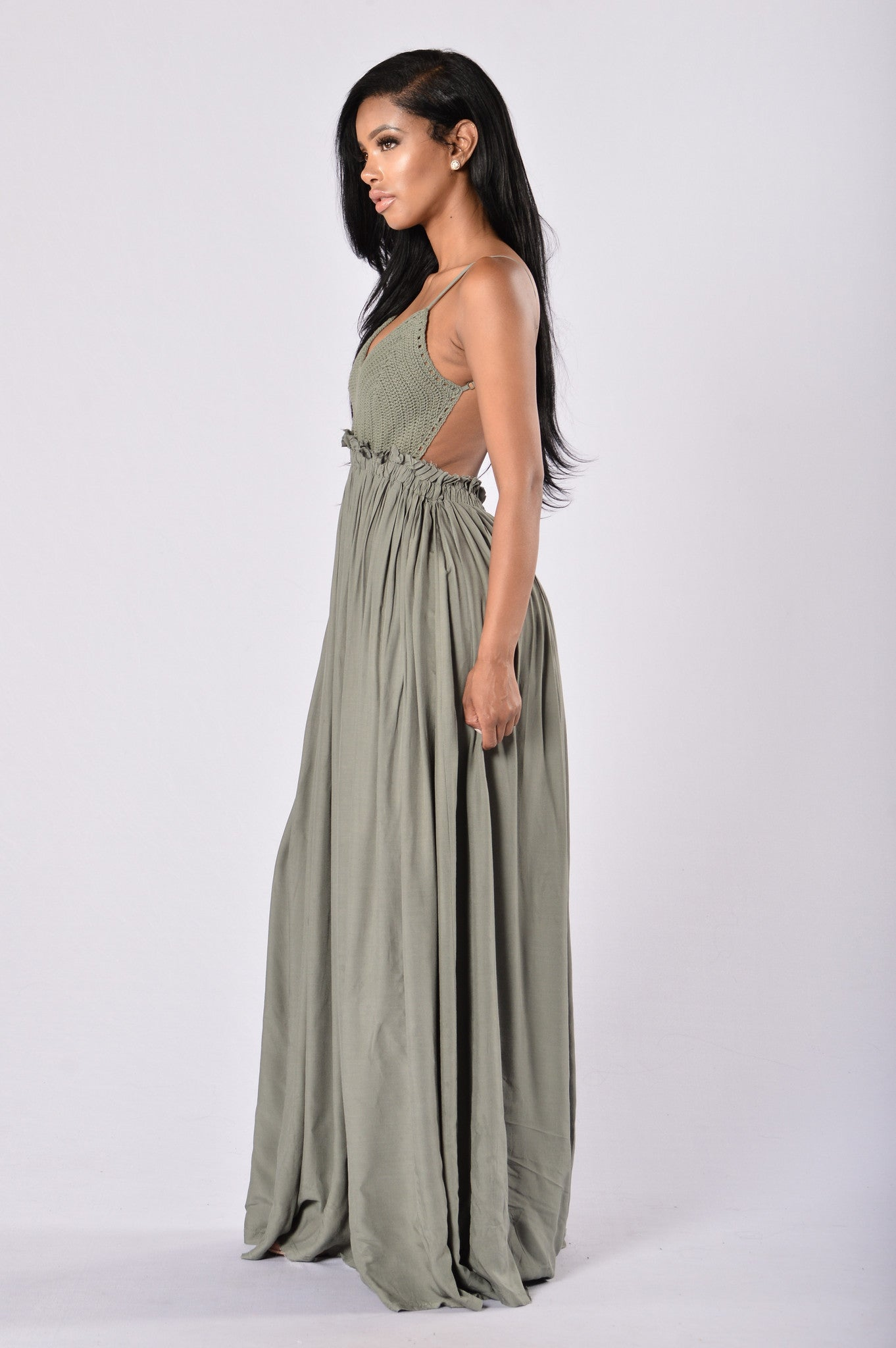 Greece Dress Olive
