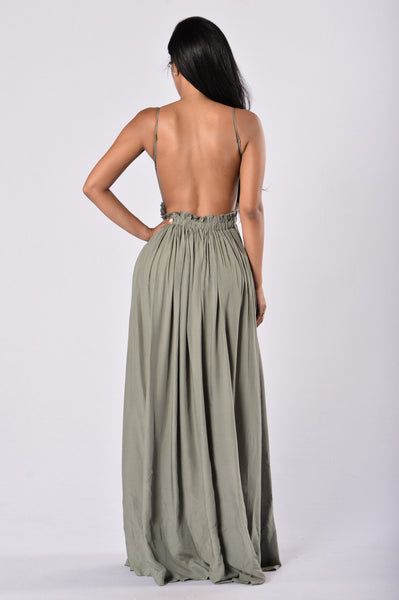 Ancient Greece Dress - Olive