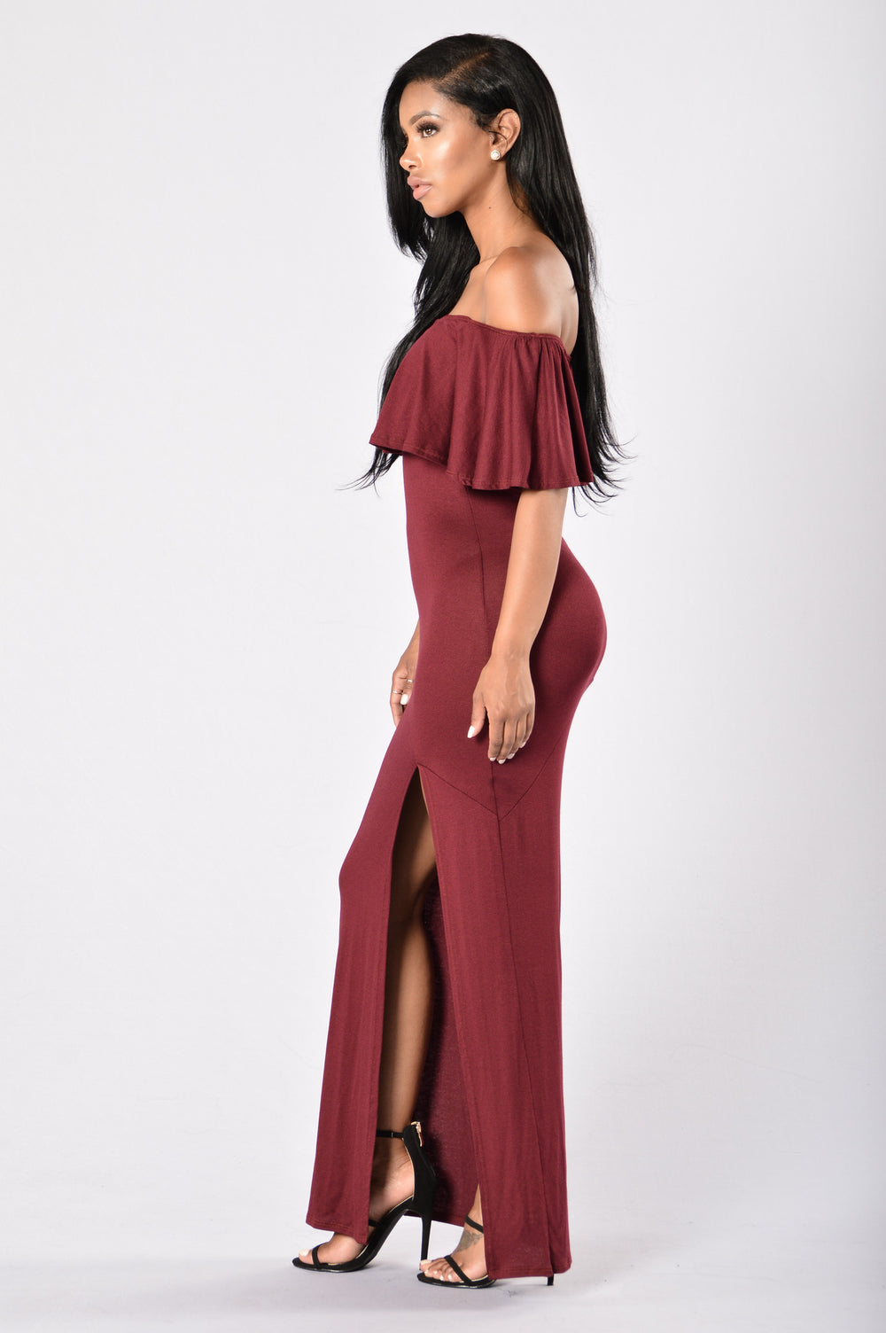 Senorita Dress - Burgundy