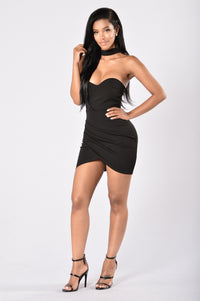 Patiently Waiting Dress - Black