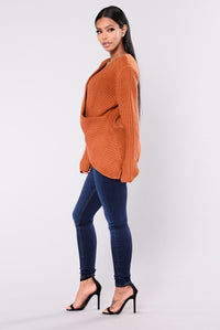 Rene Surplice Sweater - Pumpkin