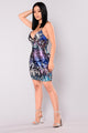 Tania Sequin Dress - Silver/Purple