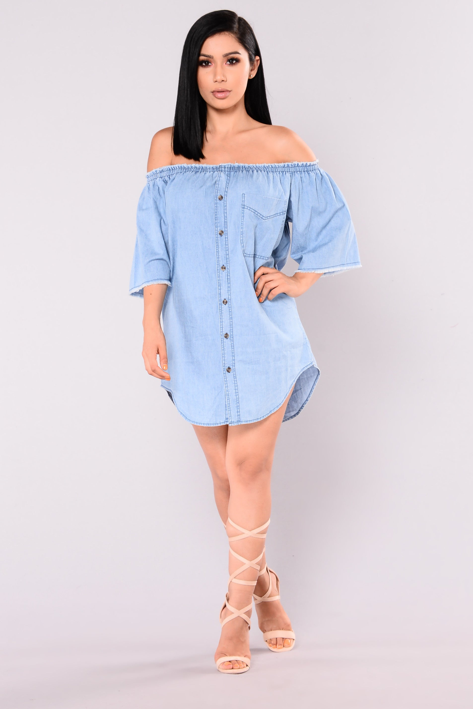 Keep Things Casual Denim Dress