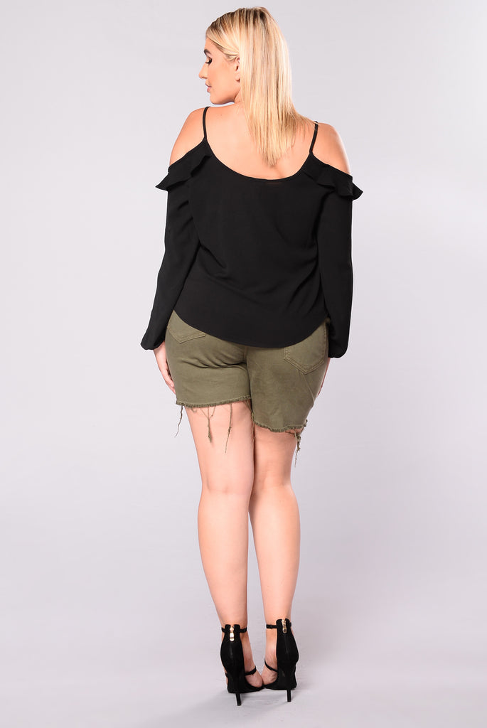 Malina Off Shoulder Top - Black