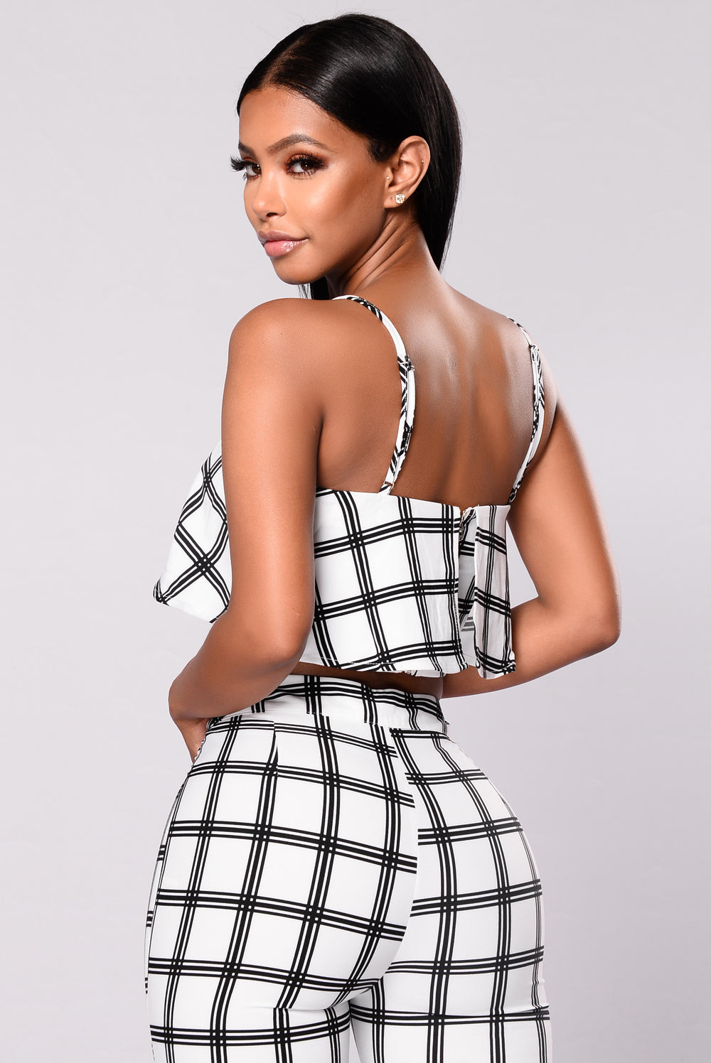 Get A Clue Plaid Set - White/Black