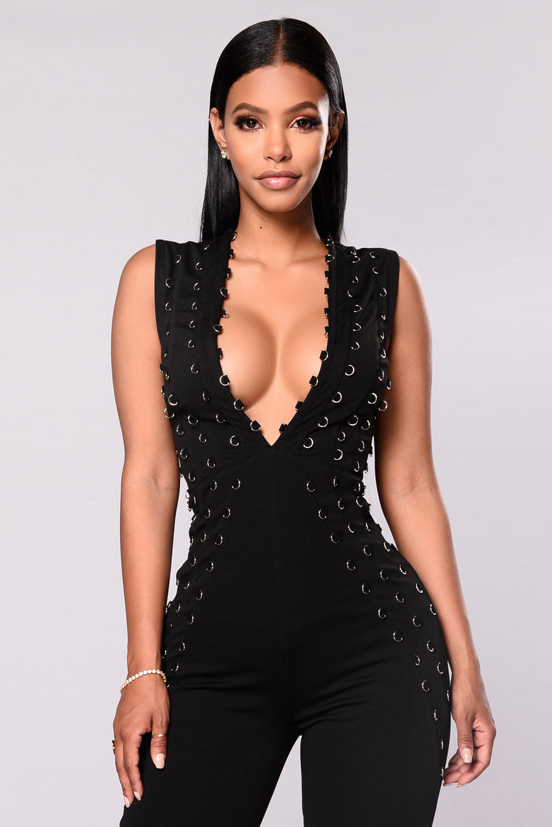 Enzo O Ring Jumpsuit - Black