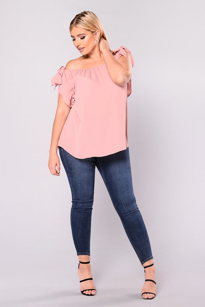 Aerie Off Shoulder Dressy Top - Mauve