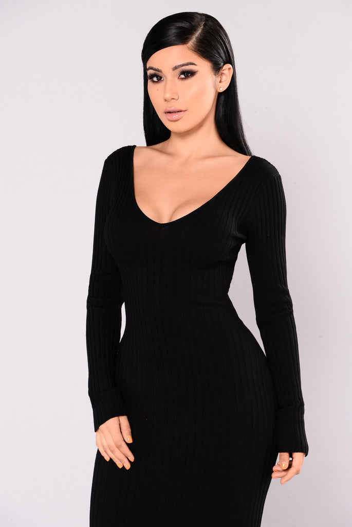 Kallan Knit Dress - Black