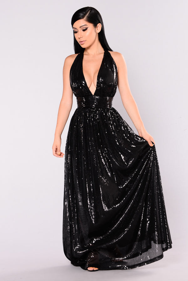 8d7051d628 Go Glam Sequin Maxi Dress - Black