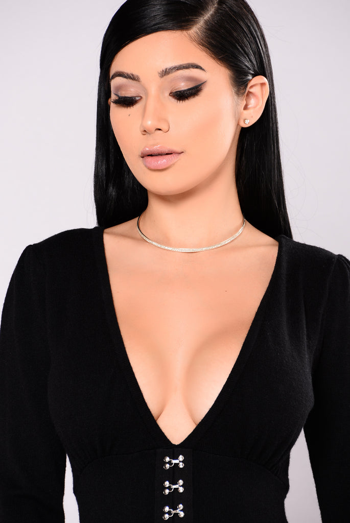 Leilani Choker Earrings Set - Silver