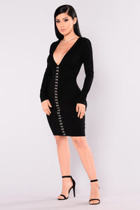 Poetic Love Dress - Black
