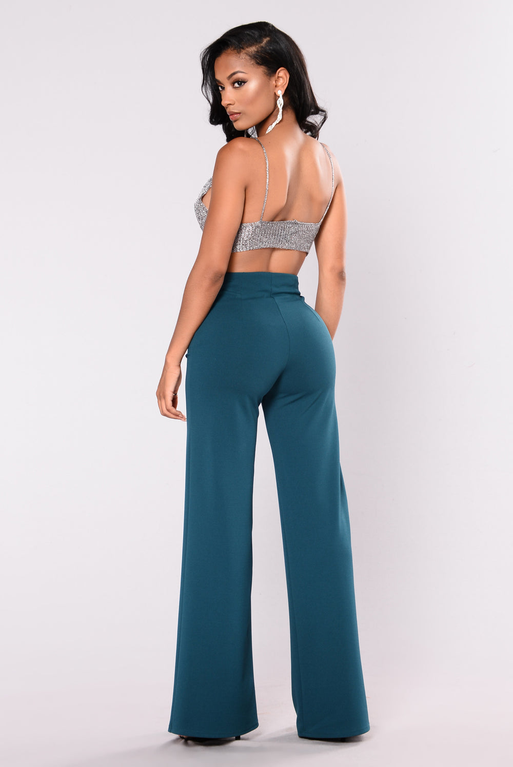 Willow Wide Leg Pants - Hunter Green