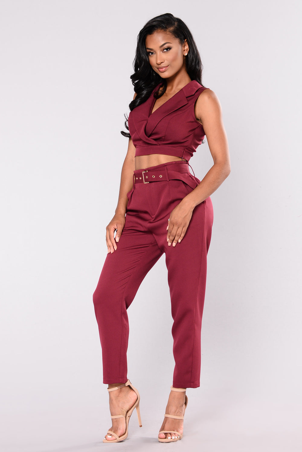 Thrive Pant Set - Wine
